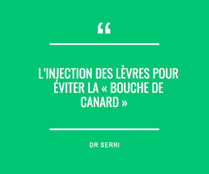"""L'injection des lèvres pour éviter la """" bouche de canard"""""""