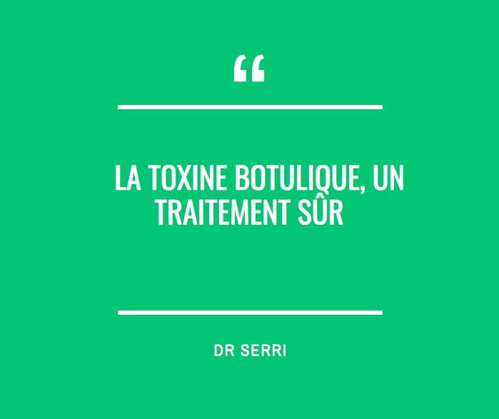 La toxine botulique, un traitement sûr